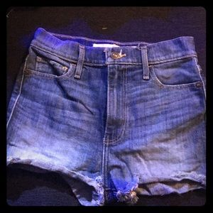 Abercrombie & fitch , high waisted denim shorts